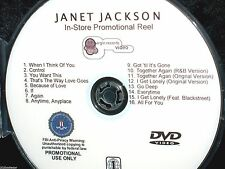 JANET JACKSON In-Store Promotional Reel DVD 16 Music Videos Tied All For You