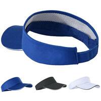 Adjustable Men Women Plain Sun Visor Sport Golf Tennis Breathable Cap Craft G6A
