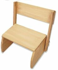 Kids Flip Step Stool, New! Chair Seat Wood Wooden Toddler Childrens Furniture