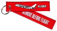 REMOVE BEFORE FLIGHT A380 Schlüsselanhänger Keyring NEU Schlüssel Anhänger RBF