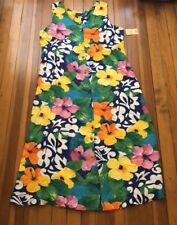 Nwt Jams World Hawaiian Floral Maxi Dres XL