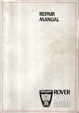 Rover 200 Series Saloon 1984 Original Repair Manual (Workshop) AKM 5415