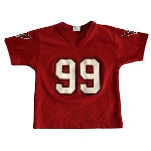 Nfl Tampa Bay Buccaneers Sapp 99 Football Jersey Kids Size M 5-6