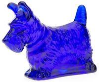 Scottie Scotty Dog Scottish Terrier - Mosser USA - Cobalt Blue Glass