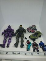 DEFECT Halo solider green purple mini figure hot wheels mega bloks lot (used)