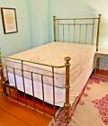 ANTIQUE BRASS FULL Size BED c. 1890's