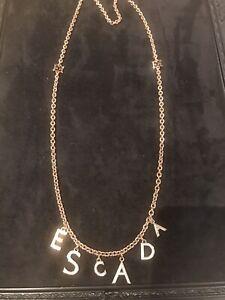 ESCADA Rose Gold Tone Beautiful Diamanté 35in  Large Necklace Chain