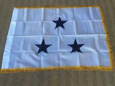 Us Navy Military Surplus 3 Star Vice Admiral Nyl-Glo 3x4 Foot White Gold Flag Gi