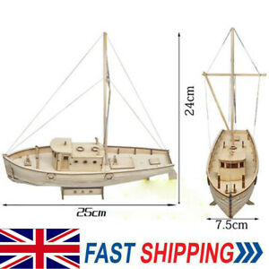 1:30 Wooden Sailing New Port Boat Model Kit Ship Self Assembly Decor Gift DIY UK