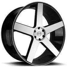 "4ea 22"" Azad Wheels AZ5198 Black Machined Rims(S12)"