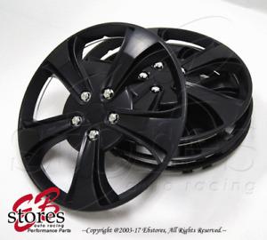 "4pc Set 14 inch Wheel Rim Skin Cover Hubcap Hub caps (14"" Matte Black Style#616)"