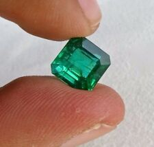 4.95 CTS NATURAL EMERALD 9 MM SQUARE SHAPED GEMSTONE FOR RING PENDANT