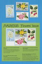 MAURITIUS - Scott 436-439a - FLOWERS - set & S/S VFMNH - 1978