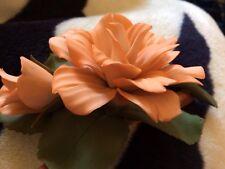 Franklin mint Buff Beauty Peach Orange Rose Porcellane Capodimonte Made In Italy