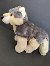 "Aurora World Grey Miyoni Wolf 10871 Plush Stuffed Animal 16"" Migoni Dog"