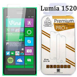 Tempered Glass Film Screen Protector Gorilla Tech Film Guard Nokia Lumia 1520