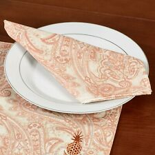 Tommy Bahama Home Set of 4 Napkins East India Paisley Pattern~2 Packs Available