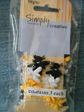 """WRIGHTS:  THREE 1 yard packages of  """"BUMBLE BEES on a STRING"""""""