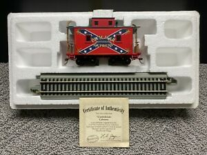 Hawthorne Village Civil War Confederate Caboose Railroad Car & E-Z Track 5 Pc