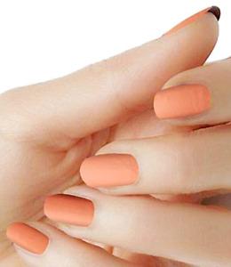 Pumpkin Orange matte color wraps solid nail polish strips M-148 street art