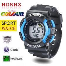 Latest Men Boys LED Digital Date Army Watch Waterproof Sport Wristwatch