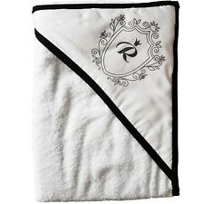 Royal Baby Bathing Hooded Towel - 100% High Quality Cotton - Black 100x100cm