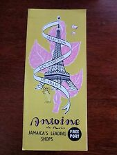 1950s Antoine Duty Free Port Shop Jamaica Island Tourist Booklet French Perfume