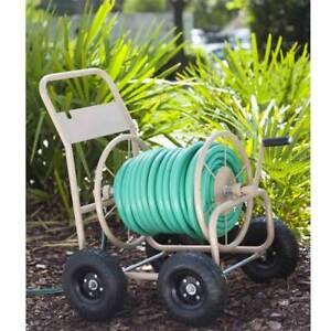Liberty Garden 870 Industrial 4 Wheel 300 Foot Steel Frame Water Hose Reel Cart