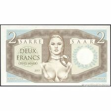 TWN - SAAR SARRE - 2 Francs 2015 UNC Very Low Serial 0000XX Private issue