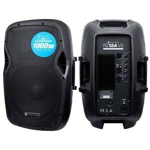"Evolution Audio RZ12A V3 12"" 1000W Active DJ Disco PA Club Stage Speaker"