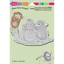 New Stampendous RUBBER STAMP cling House Mouse SNAIL MAIL free USA ship