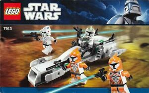 LEGO Star Wars Set #7913 Clone Trooper Battle Pack Instructions Book Only