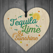 Tequila Lime Sunshine Friend Friendship Plaque Sign Funny Wooden Alcohol Gift