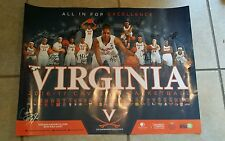 UVA Virginia Cavaliers Team Signed Autographed Womens Basketball Schedule Poster