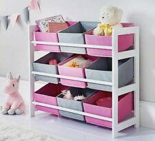Kids Mobel 9 Tub Storage Drawers Perfect Organiser Kid Clothes Crafts Toys
