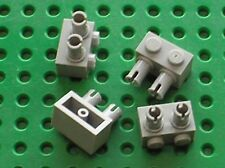 4 x LEGO OldGray Brick with Pins ref 30526 / Set 7314 4490 1354  7166 STAR WARS