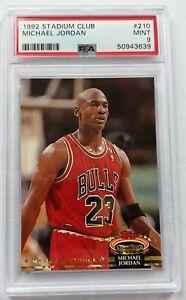 Michael Jordan 1992 Topps Stadium Club PSA 9