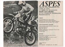 Pubblicità 1971 ASPES HOPI 125 CROSS MOTO MOTOR advert werbung publicitè reklame