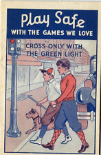 Eureka Maryland Advertising Stick Ball PLAY SAFE WITH GAMES WE LOVE, circa 1930s