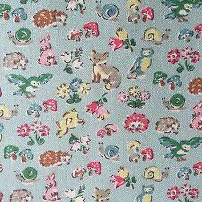 "Cath Kidston Half Yard Cotton Canvas Fabric 56"" Wide Forest Animals_1 DF026"