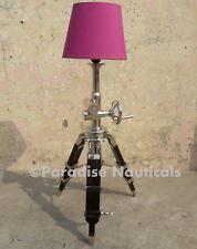 Arts Deco Style Black Tripod Fan Shape Metal Floor lamp For Coffee Shop Decor