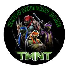 TMNT Teenage Mutant Ninja Turtles Personalised Edible Cake Topper