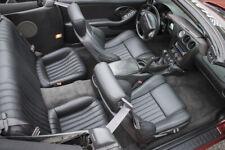 98-02 Trans Am WS6 Ebony Black Katzkin Leather Seat Covers Upholstery *VPO23