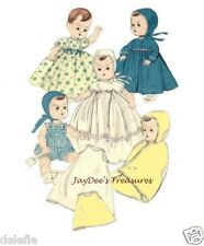 7970 Vintage Doll Clothes Pattern 11.5 inch Baby Doll