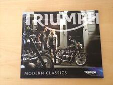 Brochure Catalogue Catálogo TRIUMPH - Modern classics - Motorbikes Motos