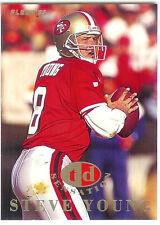1995 FLEER STEVE YOUNG TD SENSATION FOOTBALL CARD #10 of 10 QB SF 49ERS HOF