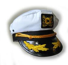 Yacht Captain Hat Cap Military Navy Adult Halloween Costume Cap