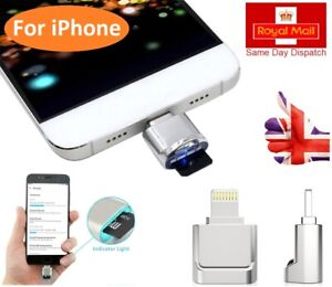 Metal iphone 8-Pin Micro SD TF Card Reader for iPhone iPad iPod High Speed