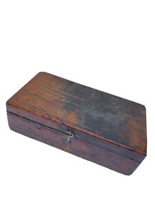 """Vintage Brown & Sharpe Wood Indicator Box Case Only Wooden 11x5.75"""""""