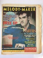 Vtg 1980s Rare Melody Maker Music Newspaper Magazine 1986 THE SMITHS IN AMERICA
